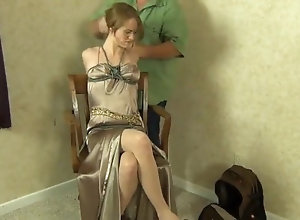 Vintage;MILF;Small Tits;Bondage;Hogtied roped in her robe