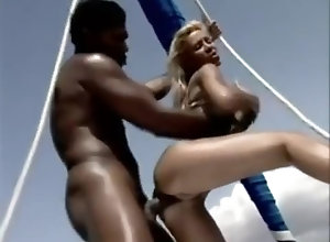 Interracial,Blond,Vintage,Classic,Retro,Blowjob,Cumshot,Blonde,Blonde,Yacht Blonde fucked on...