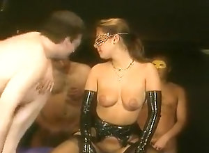 Lingerie,Threesome,Stockings,Group Sex,Gangbang,Latex,Couple,Girlfriend,Mask fetish,Emmanuelle Garcia,Thelma,Valerie Masquerade Sex