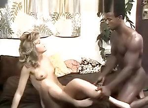Brunette,Vintage,Classic,Retro,Blowjob,Black Cock,Close Up,Jock,Penetrating Black dick...