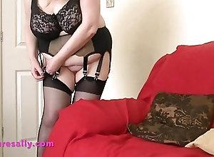 BBW;Big Boobs;Big Natural Tits;Grannies;Stockings;HD Videos;Retro Stockings;Granny Stockings;Hot Stockings;Retro;Granny;Mature Sally Hot Granny in...