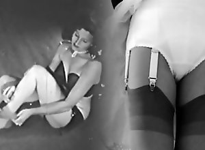Vintage;Stockings;Lingerie;Nylon;HD Videos;Retro Monochrome Pinup...