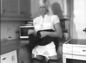 Amateur;Blondes;Vintage;Striptease;Kitchen;Pussy;Vintage Strip Vintage kitchen...