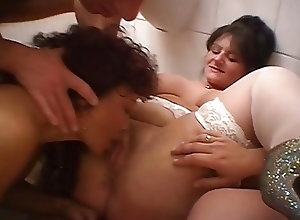 Matures;Vintage;Old+Young;Big Natural Tits Lucky guy bangs...