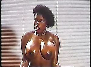 Black and Ebony;Big Boobs;Vintage;Lingerie;Striptease Just Ebony - 1987