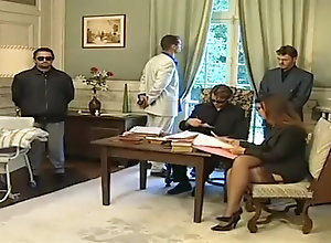 Double Penetration,Vintage,Classic,Retro,Threesome,Italian,Secretary,Threesome Office Threesome...