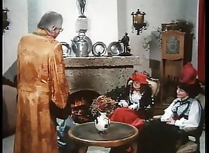 Blowjob;Hairy;Group Sex;Vintage;Redhead;German;Cunnilingus;Eating Pussy;European Drei geile Muschis