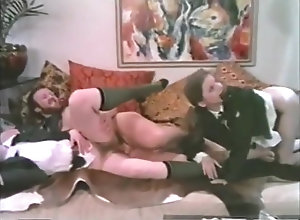 Vintage,Classic,Retro,Threesome,Old and Young,MILF door to door...
