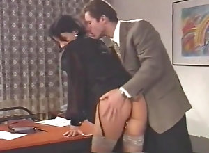 Anal,Vintage,Classic,Retro,Lingerie,Hairy,Big Ass,Doggystyle,Italian,Office,Secretary Boss fucks his...