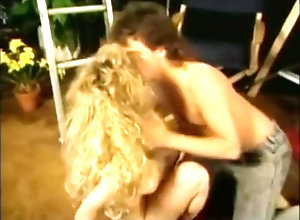 Blond,Vintage,Classic,Retro,Hairy,Blowjob,Cumshot Stairway to...