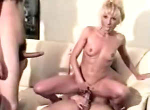 Blonde,Group Sex,Blonde,Couple,MILF BLONDE MILF TAKES...