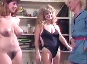 Lesbian,Threesome,Vintage Cara Lott, Leslie...
