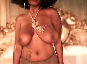 Ebony,Vintage,Classic,Retro,Big Tits,Natural Boobs Black...
