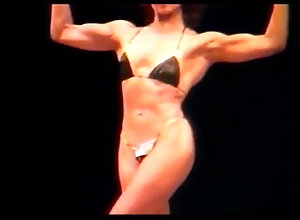 kink;muscle;80s;retro;vintage;bodybuilding;erotic;erotica;bikini;posing;muscle-posing;bicep,Fetish;Solo Female Lovely Muscle -...