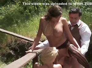 Brunette,Vintage,Classic,Retro,Threesome,Big Tits,Public,Cumshot,MILF,Farm,Threesome Sexy Threesome in...