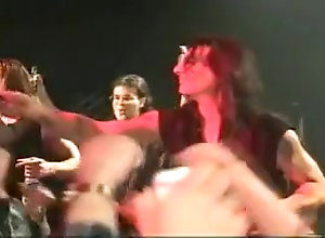 Striptease,Public,concert,Nude,Party hardrock band...